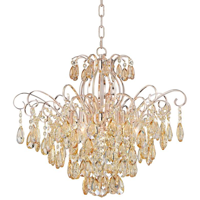 """Mellie 24"""" Wide Champagne Gold and Crystal Chandelier"""