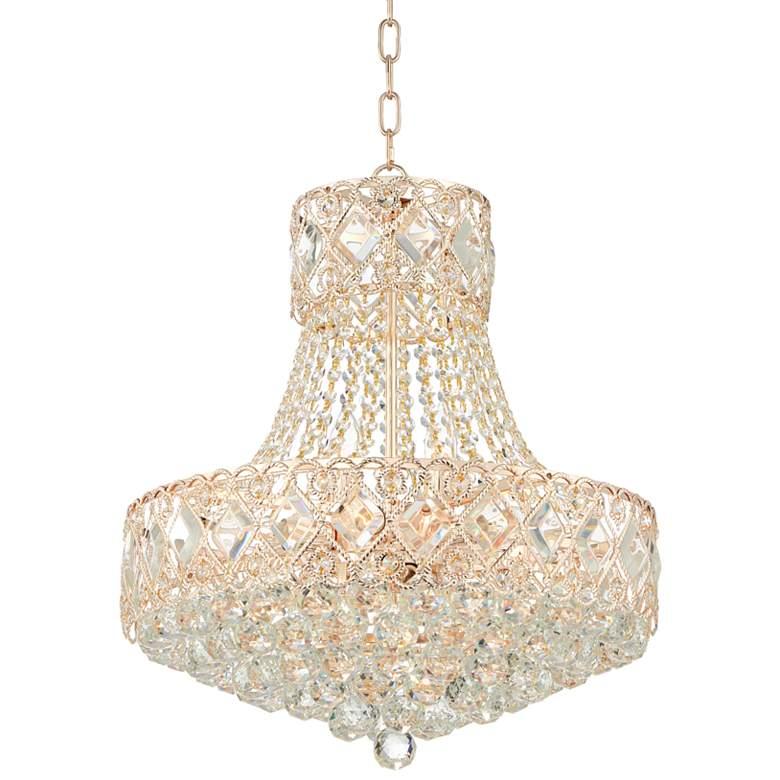 "Duchess 20"" Wide Rose Gold 10-Light Crystal Chandelier"