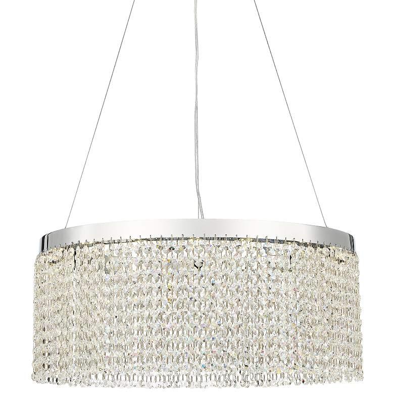"Bayley 21 3/4"" Wide Chrome LED Crystal Pendant Light"