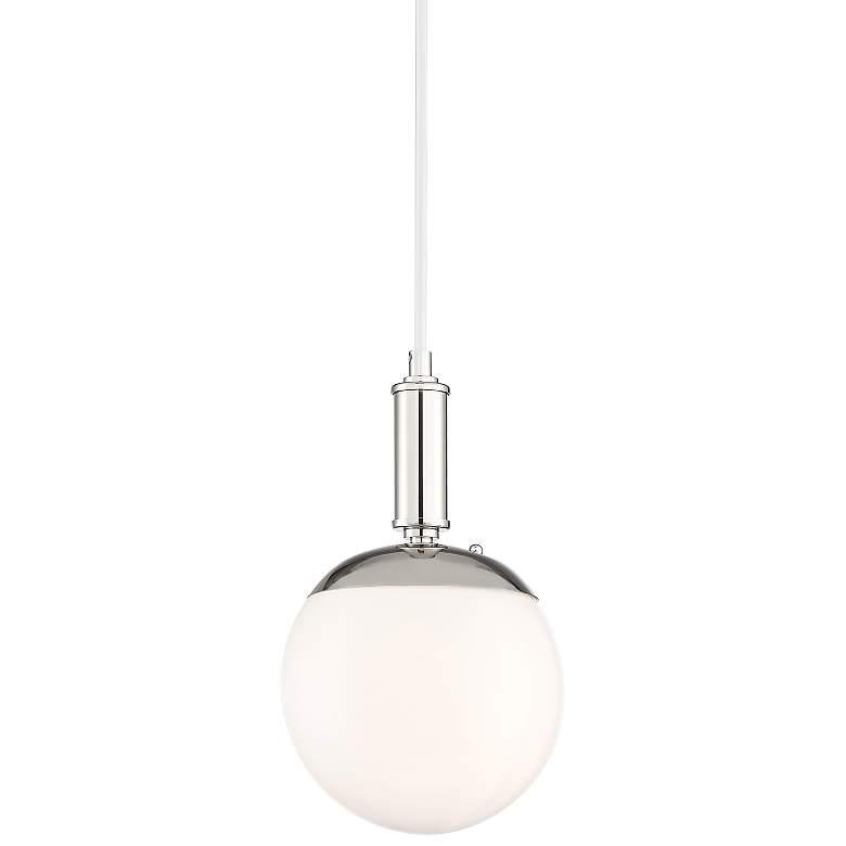 "Chasten 7 3/4"" Wide White Glass Orb Mini Pendant"