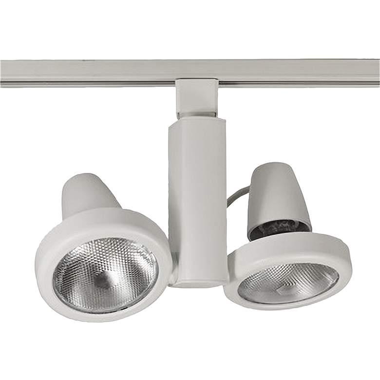 Nora Duet White Adjustable Par30 Spotlight Track Heads