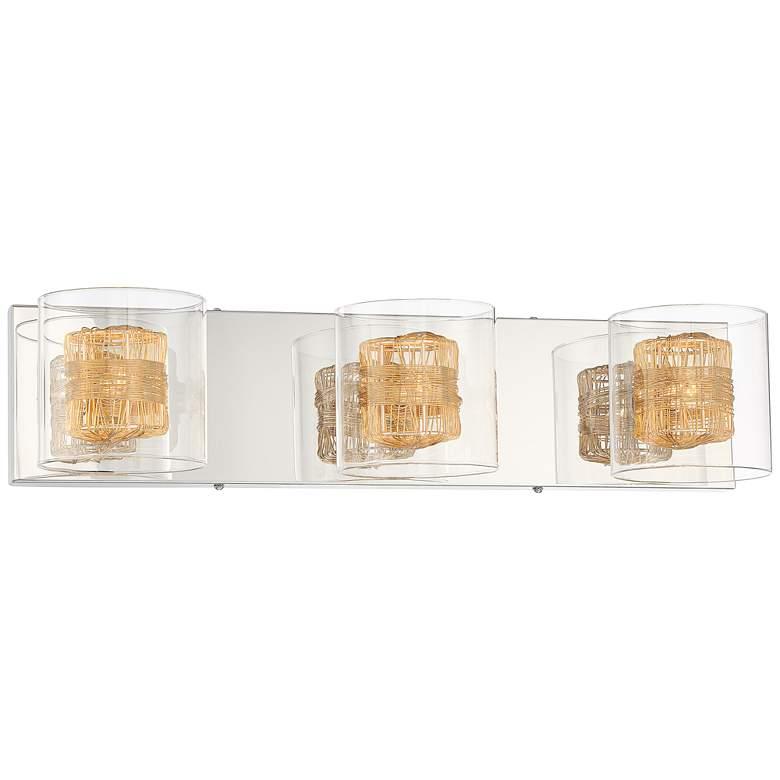"Possini Euro Wrapped Wire 22"" Wide Gold Vanity Bath Light"