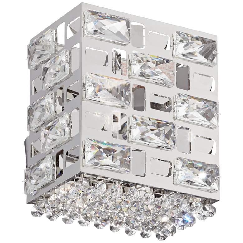 "Possini Euro Crystal Rain 8"" High Chrome LED Wall Sconce"
