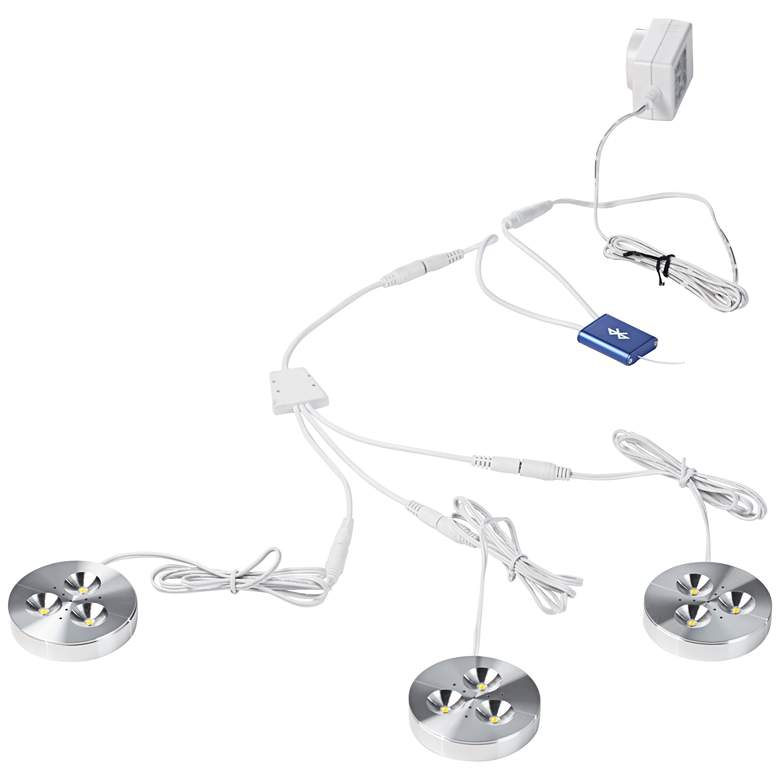 LED Puck Light Kit with Bluetooth Switch