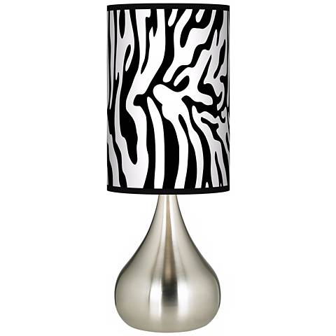 Safari Zebra Giclee Big Droplet Table Lamp