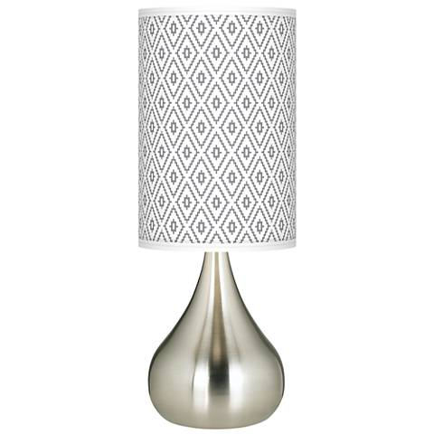 Diamonds Giclee Big Droplet Table Lamp