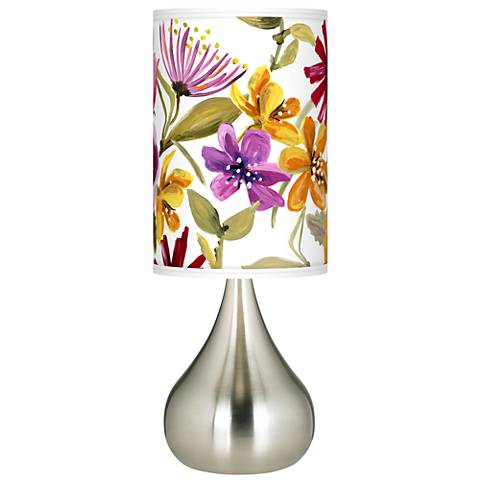 Bountiful Blooms Giclee Big Droplet Table Lamp