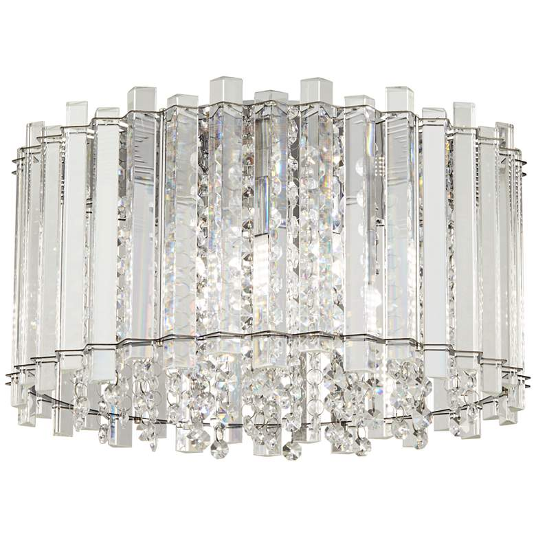 "Francesca 14"" Wide Clear Crystal LED Ceiling Light"