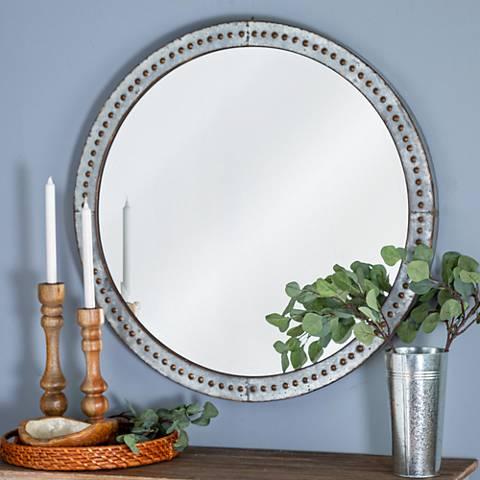 "Cooper Classics Bali Metal 34"" Round Wall Mirror"
