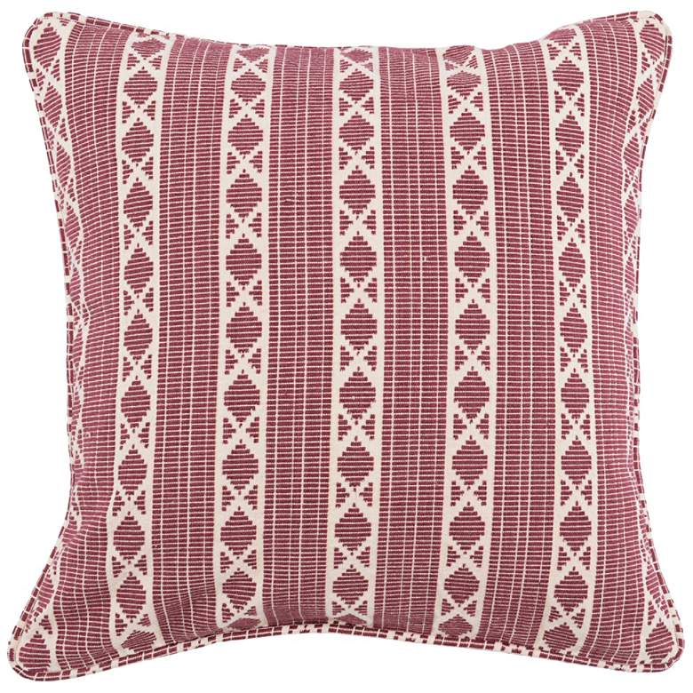 "Dakota Berry 22"" Square Decorative Pillow"