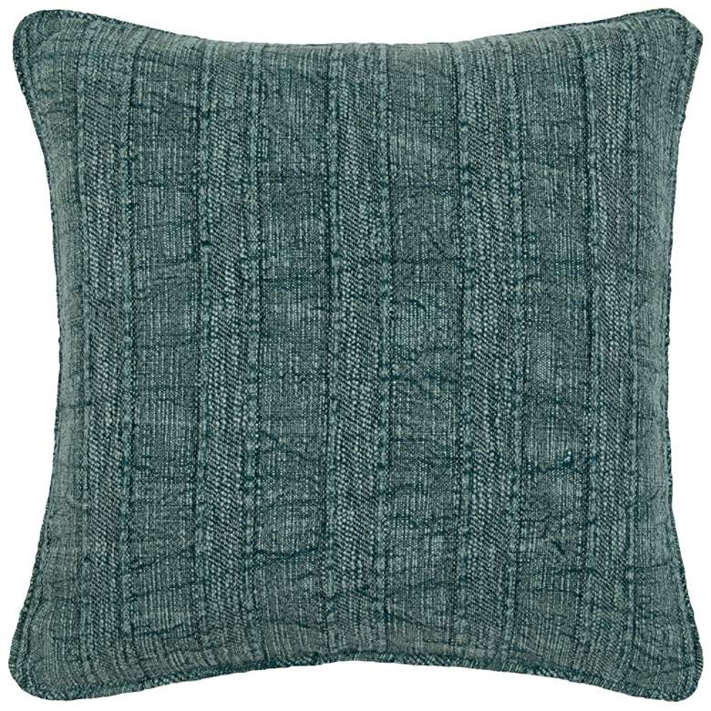 "Heirloom Linen Mallard 22"" Square Decorative Pillow"