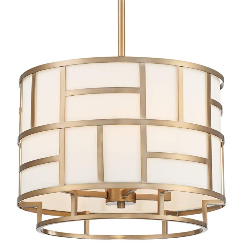 """Crystorama Danielson 16 3/4"""" Wide Vibrant Gold Chandelier"""