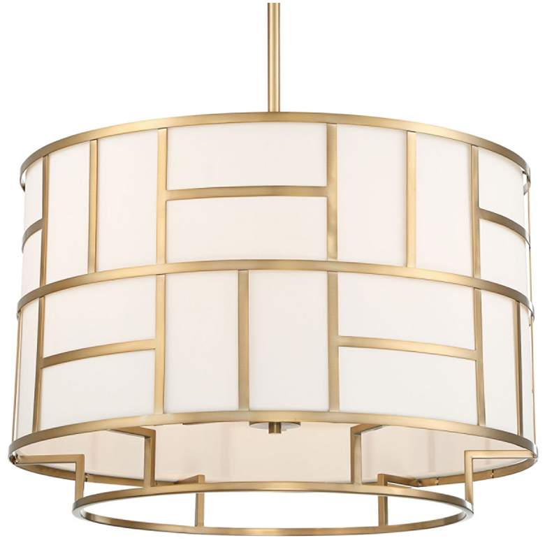 """Crystorama Danielson 24 3/4"""" Wide Vibrant Gold Chandelier"""