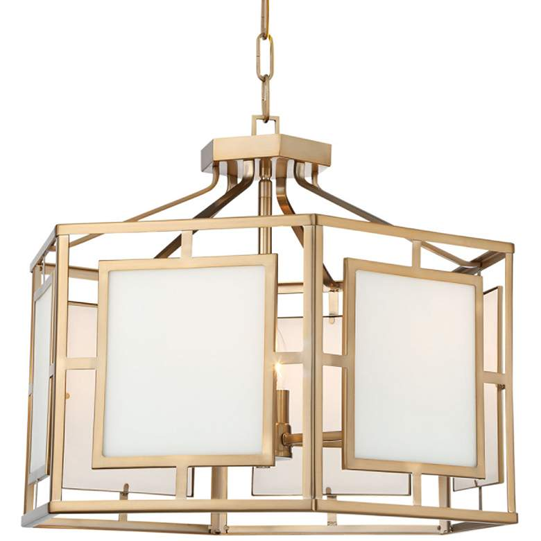 "Crystorama Hillcrest 22"" Wide Vibrant Gold Chandelier"