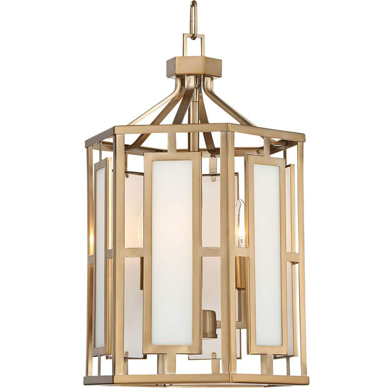 """Crystorama Hillcrest 12"""" Wide Vibrant Gold Mini Chandelier"""