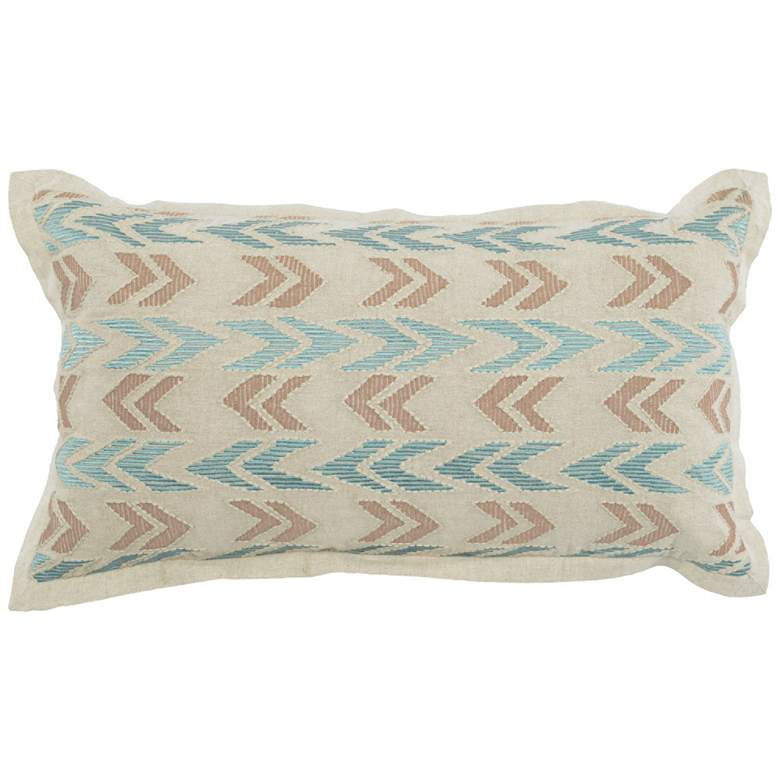 "Brianna Blue Surf 26"" x 14"" Decorative Pillow"