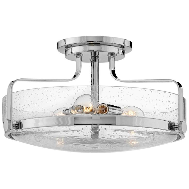 """Hinkley Harper 18"""" Wide Chrome 3-Light Ceiling Light"""
