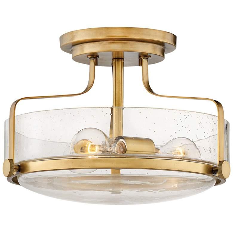 """Hinkley Harper 14 1/2""""W Heritage Brass 3-Light Ceiling Light"""