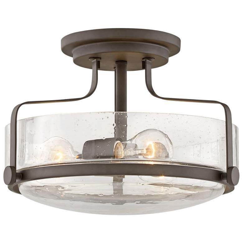 """Harper 14 1/2"""" Wide Oil-Rubbed Bronze 3-Light Ceiling Light"""