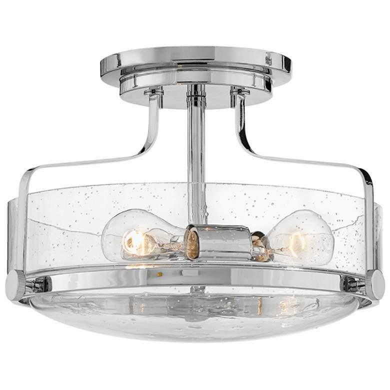 """Hinkley Harper 14 1/2"""" Wide Chrome 3-Light Ceiling Light"""
