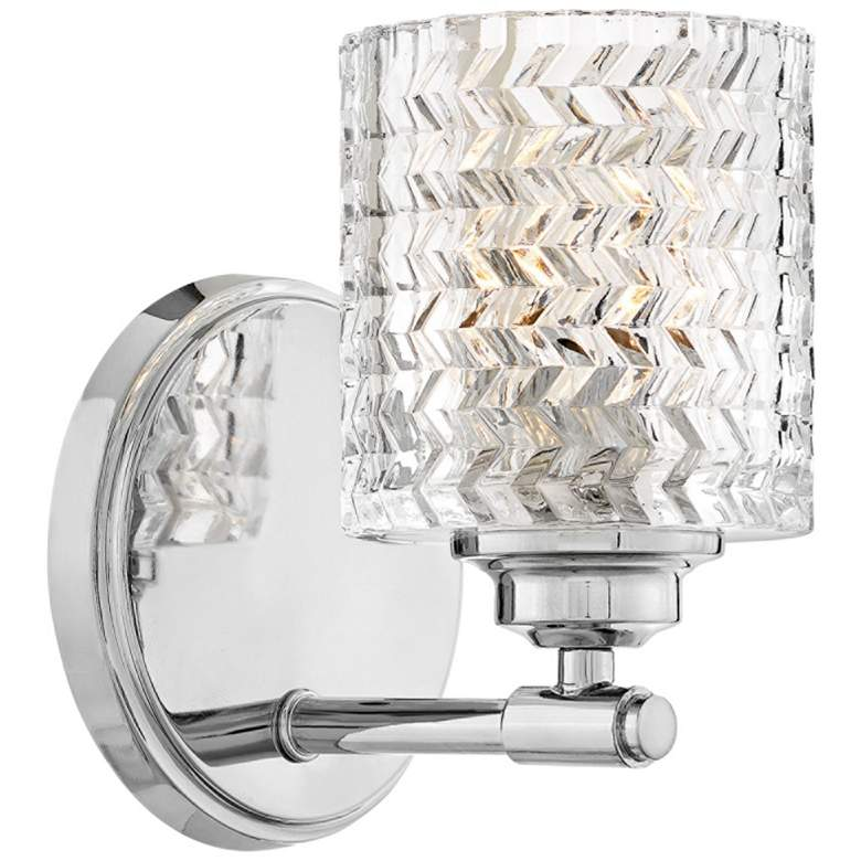 """Hinkley Elle 7 3/4"""" High Chrome and Glass Wall Sconce"""