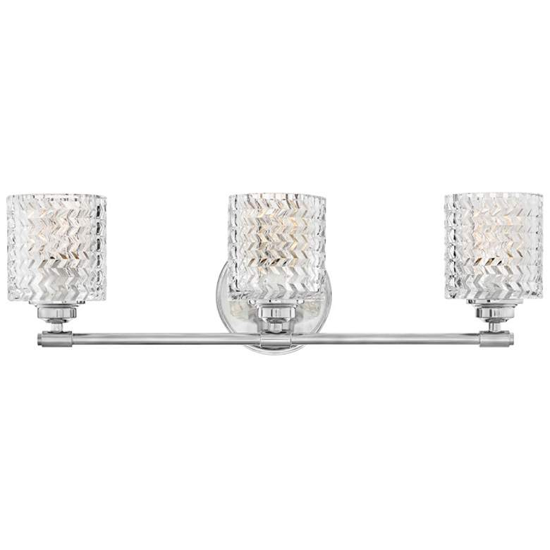 "Hinkley Elle 27"" Wide Chrome and Glass 3-Light"