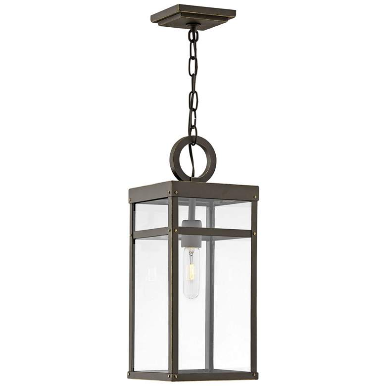 "Hinkley Porter 19""H Oil-Rubbed Bronze Outdoor Hanging Light"