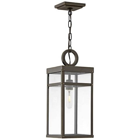 "Hinkley Porter 19""H Oil-Rubbed Bronze Outdoor Hanging Light"
