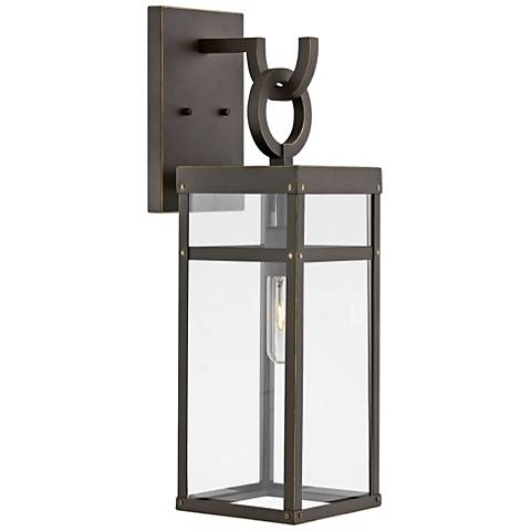 """Hinkley Porter 22"""" High Oil-Rubbed Bronze Outdoor Wall Light"""