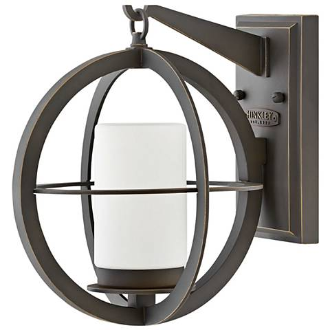 "Compass 11 3/4"" High Oil-Rubbed Bronze Outdoor Wall Light"
