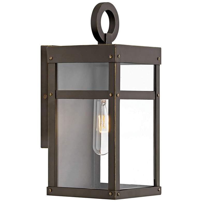 "Hinkley Porter 13"" High Oil-Rubbed Bronze Outdoor Wall Light"