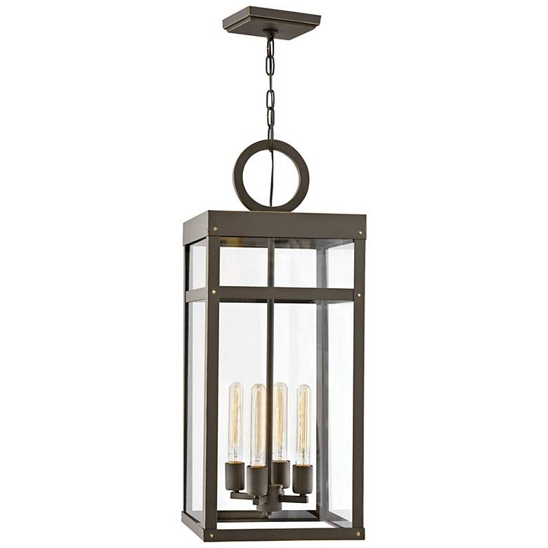 """Porter 31 1/4"""" High Oil-Rubbed Bronze Outdoor Hanging Light"""