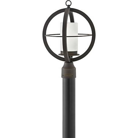 """Hinkley Compass 17""""H Oil-Rubbed Bronze Outdoor Post Light"""