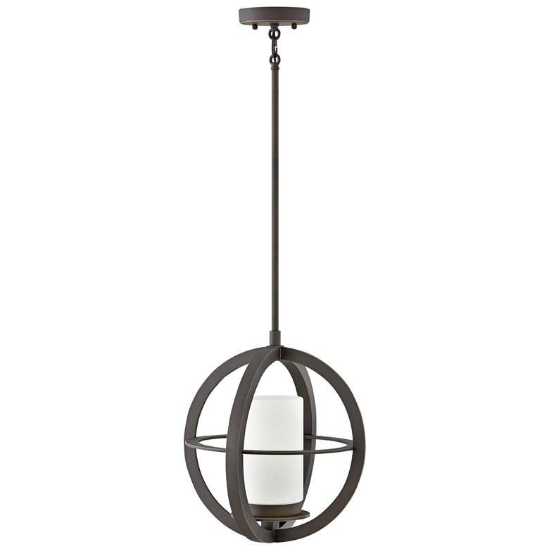 "Compass 14 3/4"" High Oil-Rubbed Bronze Outdoor Hanging"