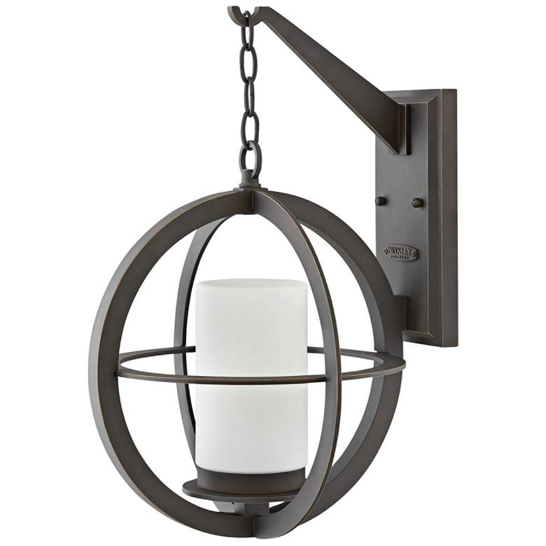 "Hinkley Compass 21""H Oil-Rubbed Bronze Outdoor Wall Light"