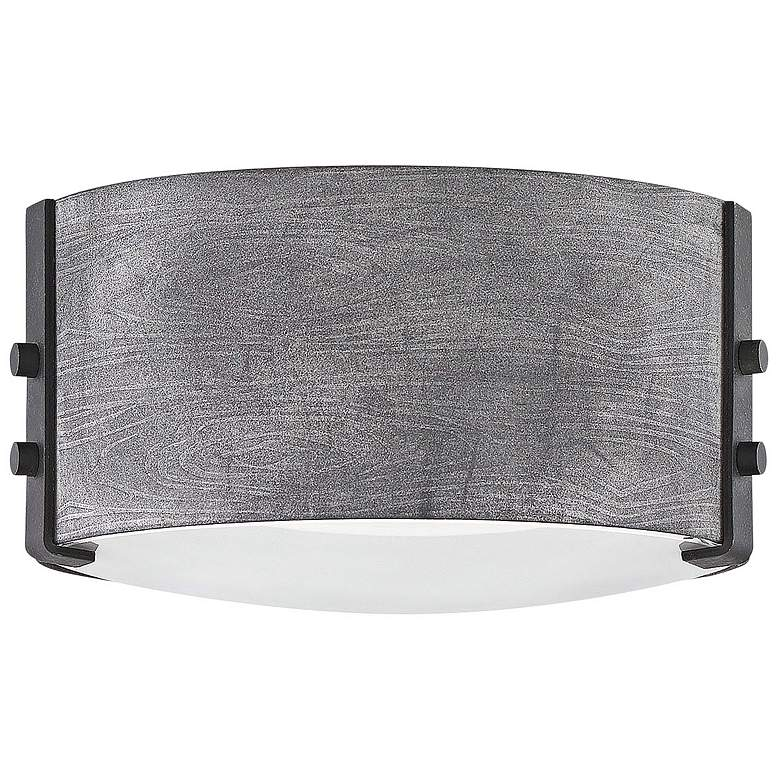 "Hinkley Sawyer 9"" Wide Aged Zinc Outdoor Ceiling Light"
