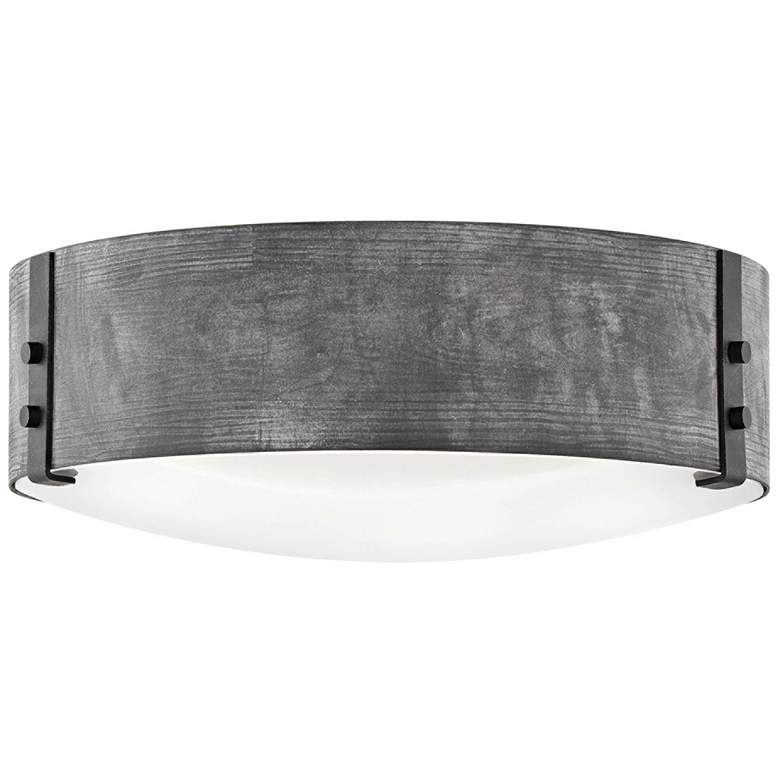 """Hinkley Sawyer 15"""" Wide Aged Zinc Outdoor Ceiling Light"""
