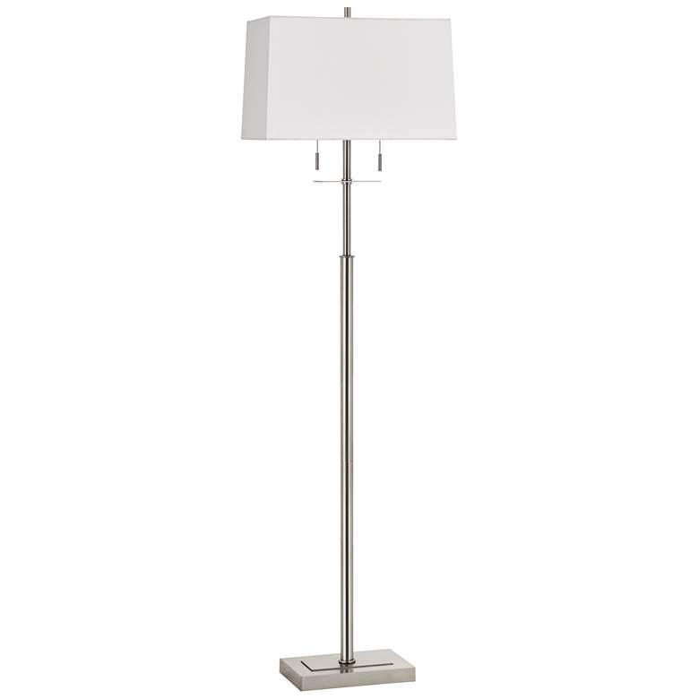 Norwich Brushed Steel Metal Pole Floor Lamp