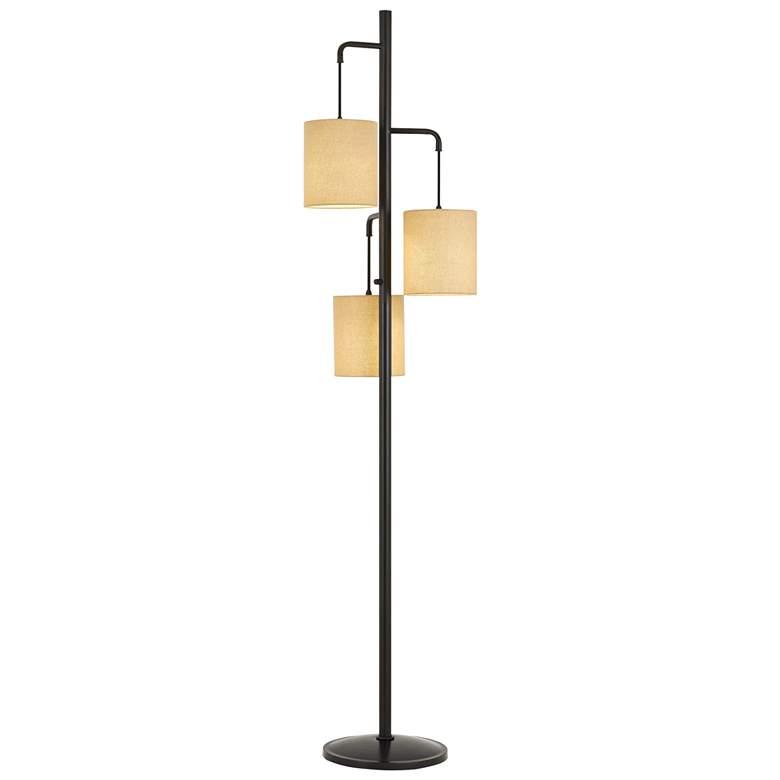 Kirkwall Dark Bronze Metal 3-Light Lantern Floor Lamp