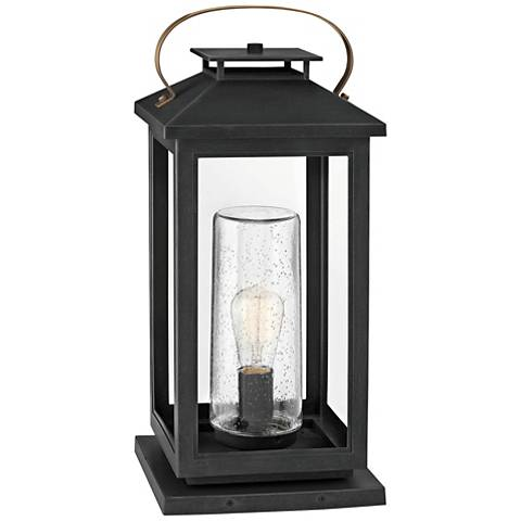 """Hinkley Atwater 21 1/2"""" High Black Glass Outdoor Lantern"""