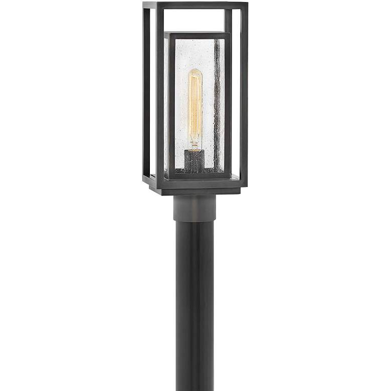 """Hinkley Republic 17""""H Oil-Rubbed Bronze Outdoor Post Light"""
