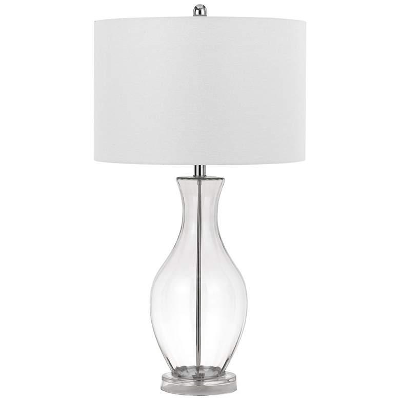 Skye Clear Glass Vase Table Lamp
