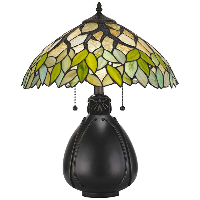 Alderson Tiffany-Style Table Lamp with Pull Chain Switch