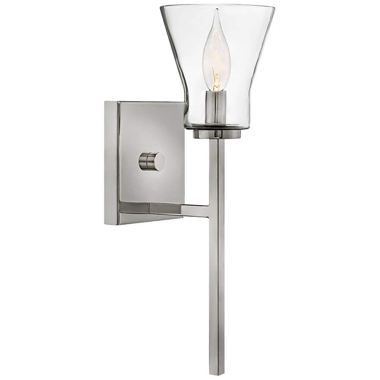 """Hinkley Arden 15"""" High Polished Antique Nickel Wall Sconce"""