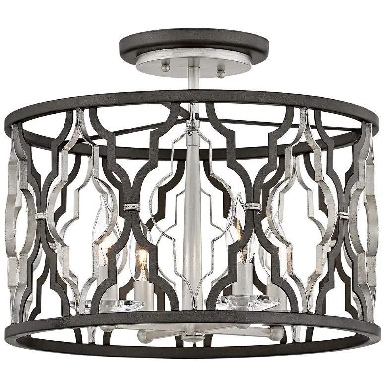 "Portico 16"" Wide Bronze 4-Light Convertible Ceiling Light"