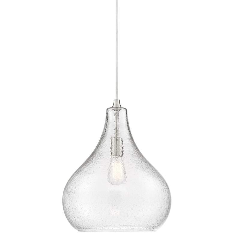 "Davin 14"" Wide Plated Glass Pendant Light"