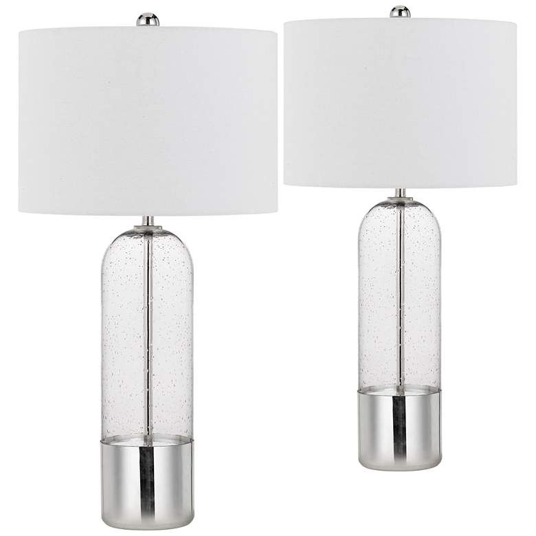 Anzio Clear Glass Bubble Glass Jar Table Lamps
