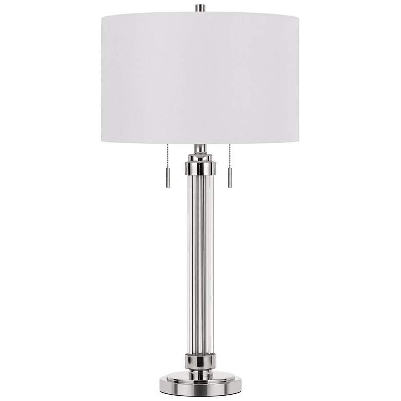 Montilla Brushed Steel Metal Tube Table Lamp