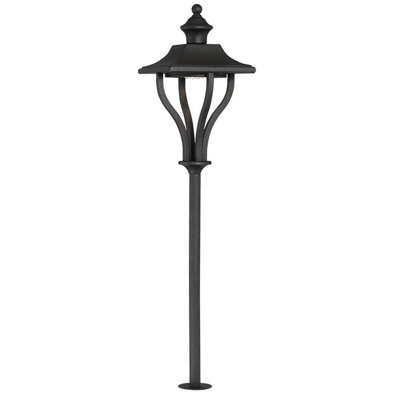 "Union 24"" High Textured Black Outdoor LED Path Light"