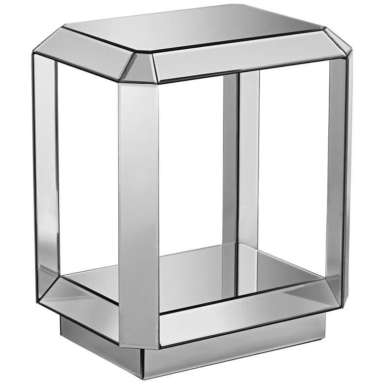 """Hillary 21"""" Wide Open-Shelf Mirror End Table by Studio 55D"""